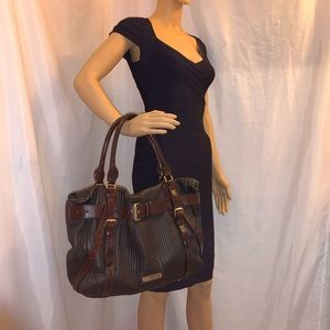 BURBERRY oversized quilted leather SATCHEL tote